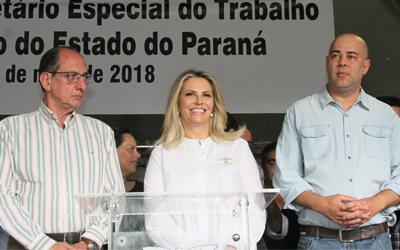 Fetracoop e Sintrascoop  participam da posse do novo Secretário Especial do Trabalho do Paraná